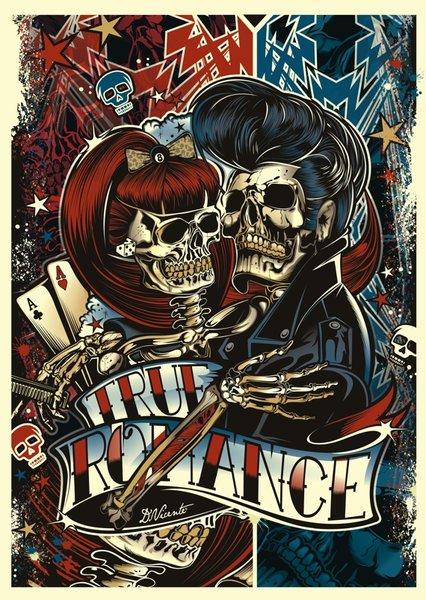 """Poster """" TRUE ROMANCE """" - DVICENTE-ART.COM"""
