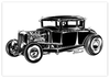 "Poster ""OLD SCHOOL HOT ROD B&W"""