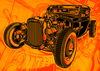 "Poster ""HOT ROD OUTLAW COLOR""."